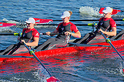 Cambridge. MA. USA. <br /> Championships Women's Eights. <br /> London Training Centre, CANADA, crew  Olympic and WRC medalist, move way from the Eliot Bridge, during the 49th edition of the Head of the Charles.<br /> <br /> <br /> 15:21:05  Sunday  20/10/2013   <br /> <br /> [Mandatory Credit. Peter SPURRIER /Intersport Images]