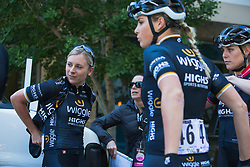 Annette Edmondson (AUS) of Wiggle High5 Cycling Team prepares for Stage 3 of the Amgen Tour of California - a 70 km road race, starting and finishing in Sacramento on May 19, 2018, in California, United States. (Photo by Balint Hamvas/Velofocus.com)