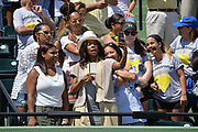 KEY BISCAYNE, FL - MARCH 31: Gabrielle Union takes a selfie with friends and some students of Marjory Stoneman Douglas High School after Sloan Stephens (USA) wins the 2018 Woman's Miami Open Championship held at the Crandon Park Tennis Center on March 31, 2018 in Key Biscayne, Florida.  (Photo by Andrew Patron/Icon Sportswire)