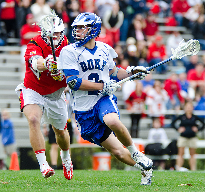 March 5 2011:Duke midfielder David Lawson (2) drives towards the goal.