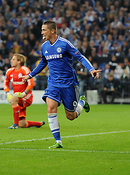Chelsea's Fernando Torres celebrates scoring his second goal of the game - Photo mandatory by-line: Joe Meredith/JMP - Tel: Mobile: 07966 386802 22/10/2013 - SPORT - FOOTBALL - Veltins-Arena - Gelsenkirchen - FC Schalke 04 v Chelsea - CHAMPIONS LEAGUE - GROUP E