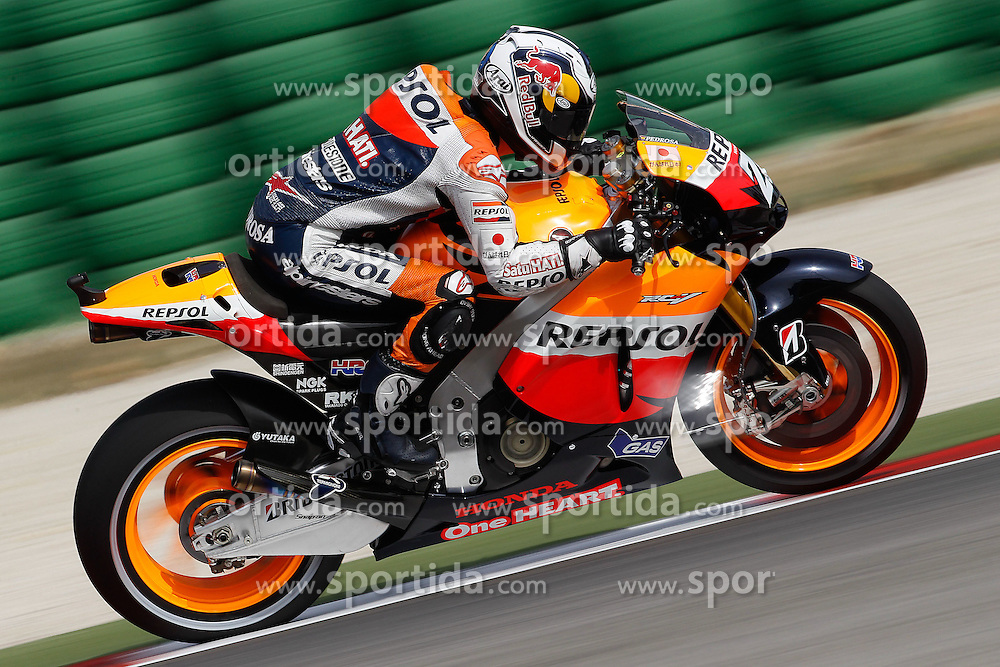 03.09.2011, Misano circuit, RSM, MotoGP, GP Aperol di San Marino e della Riviera di Rimini, im Bild Dani Pedrosa - Repsol Honda team // during MotoGP Aperol di San Marino e della Riviera di Rimini at Misano circuit, Italy on 3/9/2011. EXPA Pictures © 2011, PhotoCredit: EXPA/ InsideFoto/ Semedia +++++ ATTENTION - FOR AUSTRIA/(AUT), SLOVENIA/(SLO), SERBIA/(SRB), CROATIA/(CRO), SWISS/(SUI) and SWEDEN/(SWE) CLIENT ONLY +++++