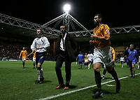 Photo: Paul Thomas/Sportsbeat Images.<br /> Preston North End v Hull City. Coca Cola Championship. 04/12/2007.<br /> <br /> Hull manager Phil Brown (C) walks off the pitch at half time.