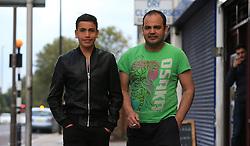 Brothers Asif Khan (right) and Aemal Khan in Hounslow, London, who were reunited when Aemal arrived from the so-called Jungle camp in Calais, France.