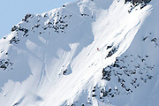 Verbier, Switzerland. March 23rd 2010..X-Trem Verbier 2010 - Freeride World Tour.Bec des Rosses from Col des Gentianes.French skier Julien Lopez