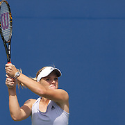 Melanie Oudin, USA, in action against Nadia Petrova, Russia, during the US Open Tennis Tournament at Flushing Meadows, New York, USA, on Monday, September 7, 2009. Photo Tim Clayton.