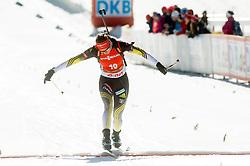 KUZMINA Anastasiya of Slovakia in finish area during Women 12.5 km Mass Start competition of the e.on IBU Biathlon World Cup on Sunday, March 9, 2014 in Pokljuka, Slovenia. Photo by Vid Ponikvar / Sportida