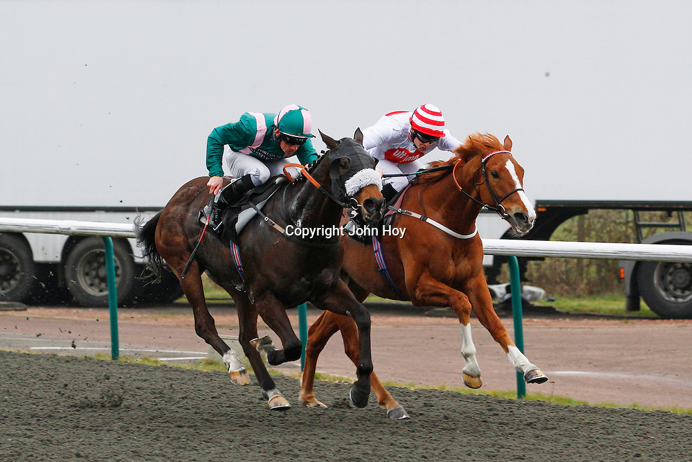 El Libertador and Shane Kelly winning the 2.50 race