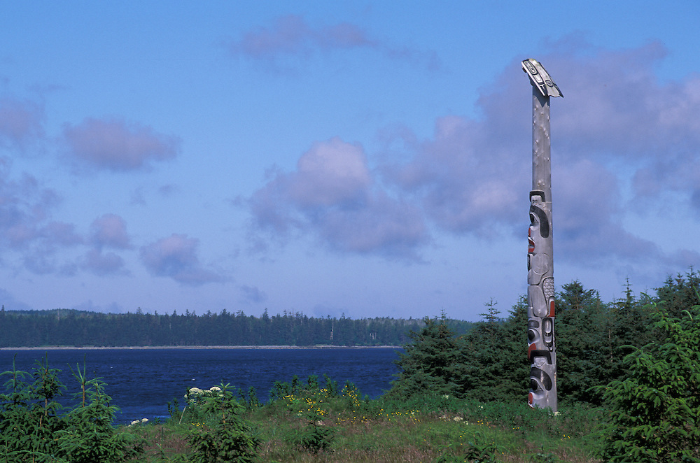 Totem poles, Old Massett, Queen Charlotte Islands, British Columbia, Canada