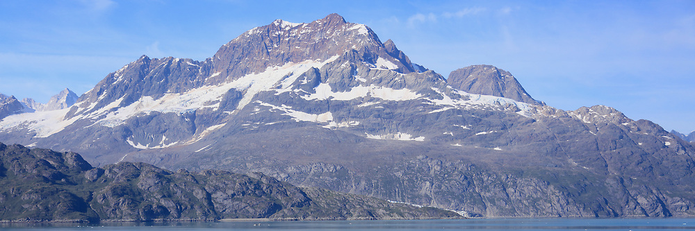 Rugged coastal mountains near Glacier Bay National Park, Alaska