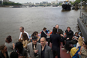 Marriage of Tim Nobkle and Sue Webster conducted by Tracey Emin. Queen Elizabeth. Thames. London. 7 June 2008 *** Local Caption *** -DO NOT ARCHIVE-© Copyright Photograph by Dafydd Jones. 248 Clapham Rd. London SW9 0PZ. Tel 0207 820 0771. www.dafjones.com.