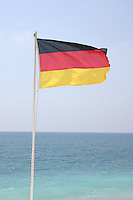 German flag on Nice France seafront