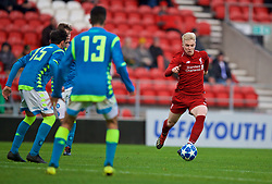 ST HELENS, ENGLAND - Monday, December 10, 2018: Liverpool's substitute Luis Longstaff during the UEFA Youth League Group C match between Liverpool FC and SSC Napoli at Langtree Park. (Pic by David Rawcliffe/Propaganda)