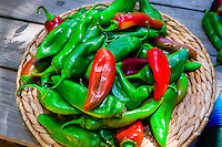 Green and red chiles, El Pinto Restaurant and Cantina, Albuquerque, New Mexico USA