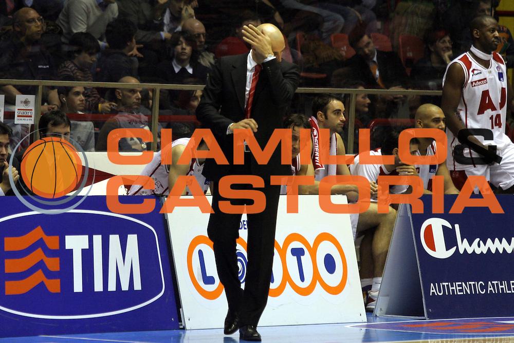 DESCRIZIONE: Forli Lega A1 2005-06 Coppa Italia Tim Cup Armani Jeans Olimpia Milano Carpisa Napoli<br />GIOCATORE: Djordjevic<br />SQUADRA: Armani Jeans Olimpia Milano<br />EVENTO: Campionato Lega A1 2005-2006 Coppa Italia Final Eight Tim Cup Quarti Finale<br />DATA: 17/02/2006<br />CATEGORIA: Delusione<br />SPORT: Pallacanestro<br />AUTORE: Agenzia Ciamillo-Castoria/G.Ciamillo<br />Galleria: Coppa Italia 2005-2006<br />Fotonotizia: Forli Campionato Italiano Lega A1 2005-2006 Coppa Italia Final Eight Tim Cup Quarti Finale Armani Jeans Olimpia Milano Carpisa Napoli<br />Predefinita
