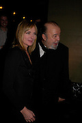 Kim Cattrall and Sir Peter Hall . Whose Life is it Anyway? opening night performance at Comedy Theatre, Panton Street followed by Party at Mint Leaf. London. 26 January 2005. ONE TIME USE ONLY - DO NOT ARCHIVE  © Copyright Photograph by Dafydd Jones 66 Stockwell Park Rd. London SW9 0DA Tel 020 7733 0108 www.dafjones.com