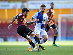 Matt Taylor of Bristol Rovers closes down Nathan Clarke of Bradford City - Mandatory by-line: Alex James/JMP - 17/09/2016 - FOOTBALL - Coral Windows Stadium - Bradford, England - Bradford City v Bristol Rovers - Sky Bet League One