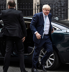 © Licensed to London News Pictures. 03/10/2019. London, UK. PM BORIS JOHNSON is seen returning to downing street in Westminster, London. The British Prime Minister has sent a new Brexit proposal to the EU ahead of an EU summit later this month. Photo credit: Ben Cawthra/LNP