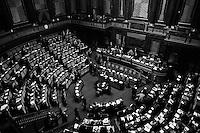 ROME, ITALY - 27 November 2013: L'assemblea del Senato si riunisce per l'approvazione della proposta della Giunta<br /> delle elezioni e delle immunita` parlamentari<br /> (mancata convalida dell'elezione), a Roma il 27 novembre 2013.