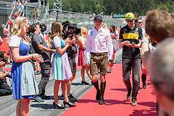 July 1, 2018 - Spielberg, Austria - Motorsports: FIA Formula One World Championship 2018, Grand Prix of Austria, .#33 Max Verstappen (NLD, Aston Martin Red Bull Racing), #27 Nico Hulkenberg (GER, Renault Sport Formula One Team) (Credit Image: © Hoch Zwei via ZUMA Wire)