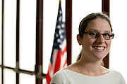 Attorney Melissa Weaver poses for a portrait at her office in Dallas, Texas on July 16, 2014. Weaver works with the Human Rights Initiative of North Texas  where she provides free legal service to children going into the immigration courts which significantly betters their chance of staying in the United States. <br /> CREDIT: Cooper Neill for The Wall Street Journal<br /> SLUG: IMMIGCOURTS