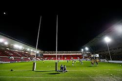 General View as the sides warm up - Mandatory byline: Rogan Thomson/JMP - 22/01/2016 - RUGBY UNION - Ashton Gate Stadium - Bristol, England - Bristol Rugby v Ulster A - British & Irish Cup.