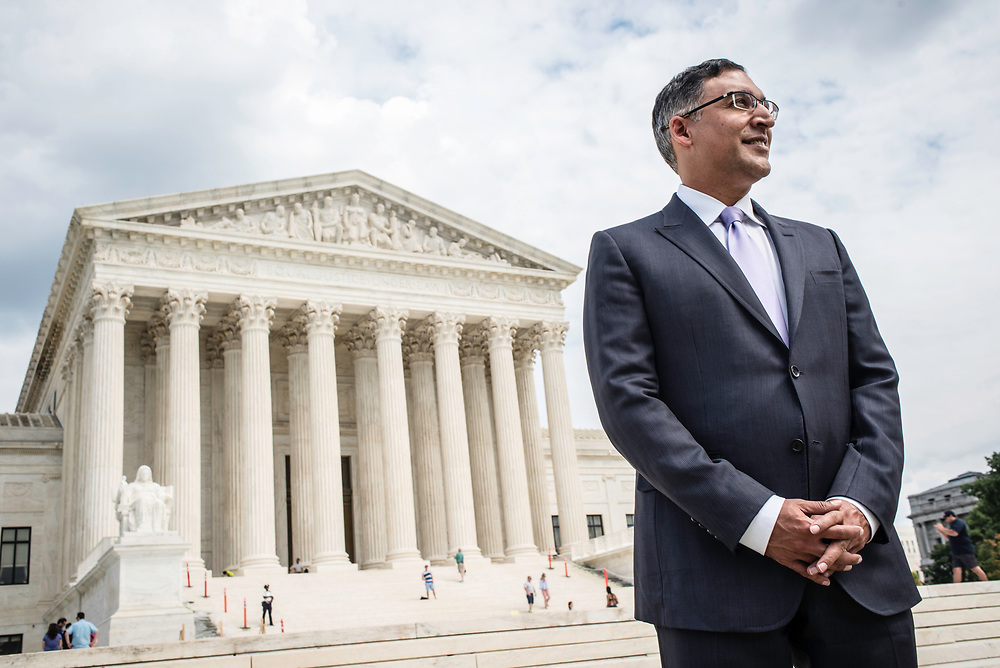 WASHINGTON, DC -- 8/10/17 -- Supreme Court lawyer Neal Katyal is one of the leading attorneys for the state of Hawaii as they fight President Trump's travel ban. Katyal, now an attorney with Hogan Lovells, and former Acting Solicitor General, has argued more cases before the Supreme Court, 34, than any other minority attorney except Thurgood Marshall, with whom he's currently tied..…by André Chung #_AC13947