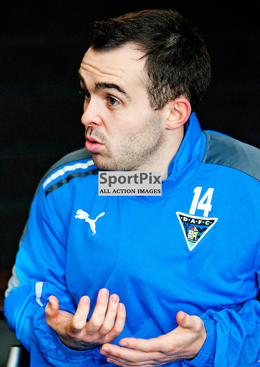 The Clydesdale Bank Scottish Premier League, Season 2011/12.Dunfermline Athletic Football Club - Pre match news conference (Aberdeen).24-11-11...Nick Phinn talks to the press in this afternoons Dunfermline Athletic FC Pre match news conference...At Pitreavie- Dunfermline Academy of sport, Dunfermline...Picture, Craig Brown ..Thursday 24th November 2011.