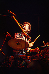 Levon Helm singing with The Band. Performing live at the Westchester Premier Theater 13 July 1976