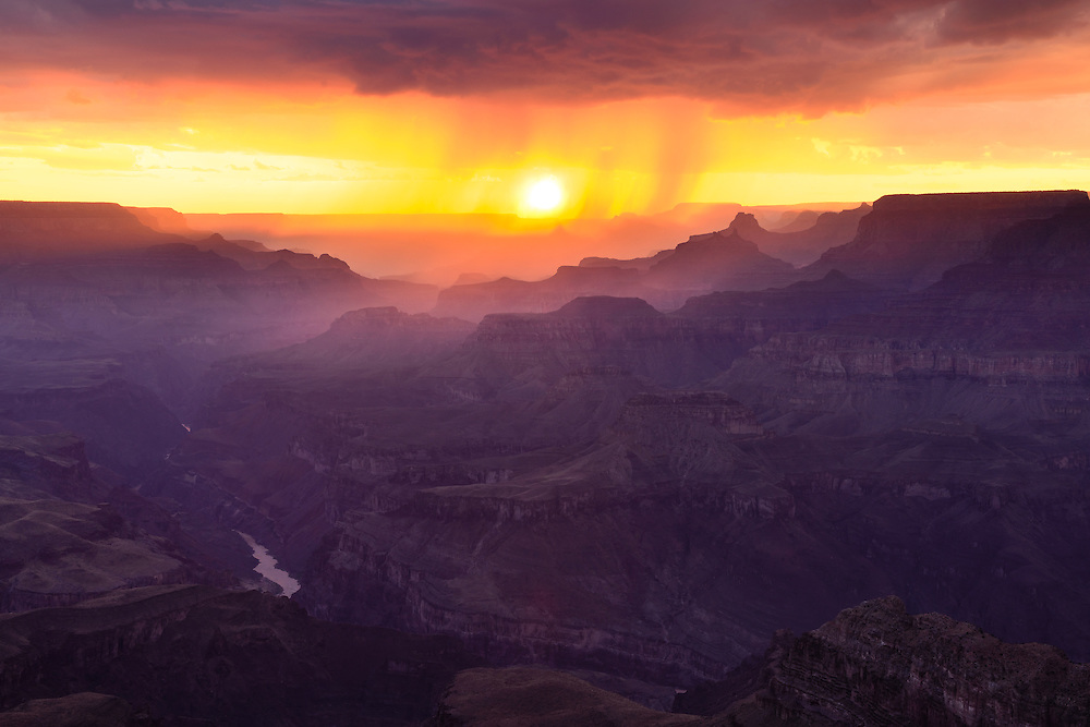 Sunset from Lipan Point at the Grand Canyon.