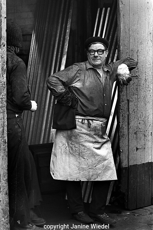 Breaktime at Smiths Drop Forge in Aston Birmingham in the 1970s