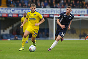 AFC Wimbledon midfielder Max Sanders (23) dribbling during the EFL Sky Bet League 1 match between Southend United and AFC Wimbledon at Roots Hall, Southend, England on 12 October 2019.