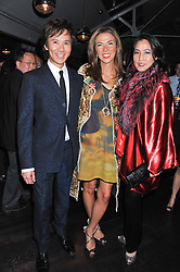 Left to right, ANDY WONG, HEATHER KERZNER and PATTI WONG at a party to celebrate the publication of Joseph Anton by Sir Salman Rushdie held at The Collection, 264 Brompton Road, London SW3 on 14th September 2012.