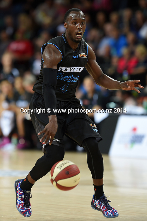 Cedric Jackson. SkyCity Breakers v Adelaide 36ers. 2014/15 ANBL Basketball Season. Vector Arena, Auckland, New Zealand. Friday 17 October 2014. Photo: Andrew Cornaga / www.photosport.co.nz