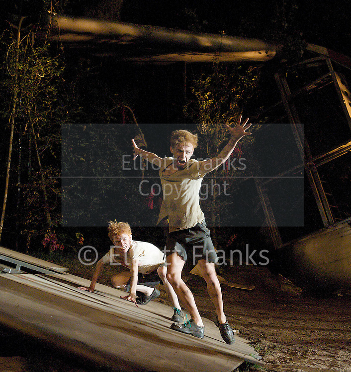 Lord of the Flies<br /> by William Golding <br /> adapted for stage by Nigel Williams<br /> at Regent's Park, Open Air Theatre, London, Great Britain <br /> press photocall<br /> 20th May 2011<br /> <br /> <br /> James McConville (as Sam)<br /> Stuart Matthews (as Eric)<br /> <br /> <br /> Photograph by Elliott Franks
