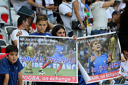 June 1, 2018 - Paris, Ile-de-France, France - Young French supporters before the friendly football match between France and Italy at Allianz Riviera stadium on June 01, 2018 in Nice, France..France won 3-1 over Italy. (Credit Image: © Massimiliano Ferraro/NurPhoto via ZUMA Press)