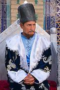 Uzbekistan, Khiva. Tosh-Hovli Palace. Tourist show at the Harem.
