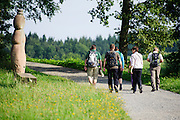 geführte Gruppenwanderung mit Ranger bei Wald-Michelbach, Odenwald, Hessen, Deutschland | guided walking tour with Ranger in Wald-Michelbach, Odenwald, Hesse, Germany