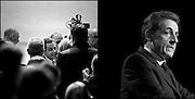 Nicolas Sarkozy lors de son déplacement a Marseille pour un meeting.Nicolas Sarkozy when moved to a rally in Marseille