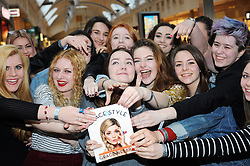 "© Licensed to London News Pictures. 20/02/2016<br /> Fans waiting to see Grace.<br /> Grace Helbig Comedian,actress,author and YouTube personality at Waterstones book store Bluewater,Greenhithe,Kent to  meet hundreds of fans who have come to buy her new book  ""Grace&Style"".<br />  <br />  (Byline:Grant FalveyLNP)"