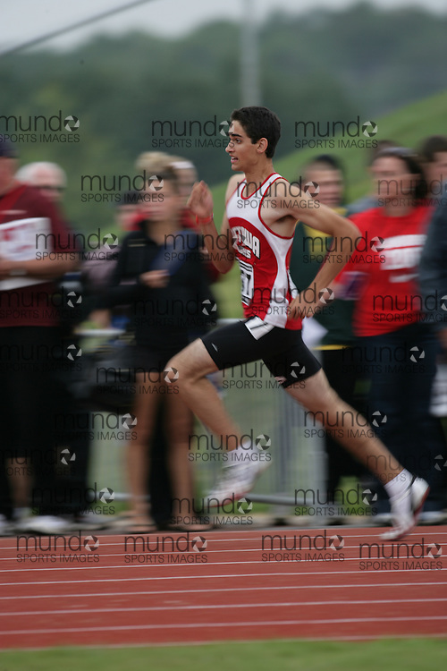 (Charlottetown, Prince Edward Island -- 20090714) \Devon Biocchi\ 400m at the 2009 Canadian Junior Track & Field Championships at UPEI Alumni Canada Games Place on the campus of the University of Prince Edward Island, July 17-19, 2009.  Sean Burges / Mundo Sport Images ..Mundo Sport Images has been contracted by Athletics Canada to provide images to the media.