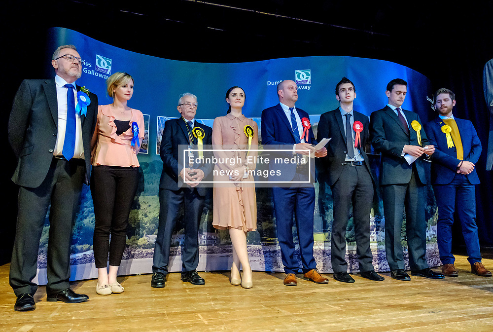 General Election 2017 Dumfries Count :: Dumfriesshire, Clydesdale and Tweeddale Candidates line up prior to the result<br /> <br /> (c) Andrew Wilson | Edinburgh Elite media