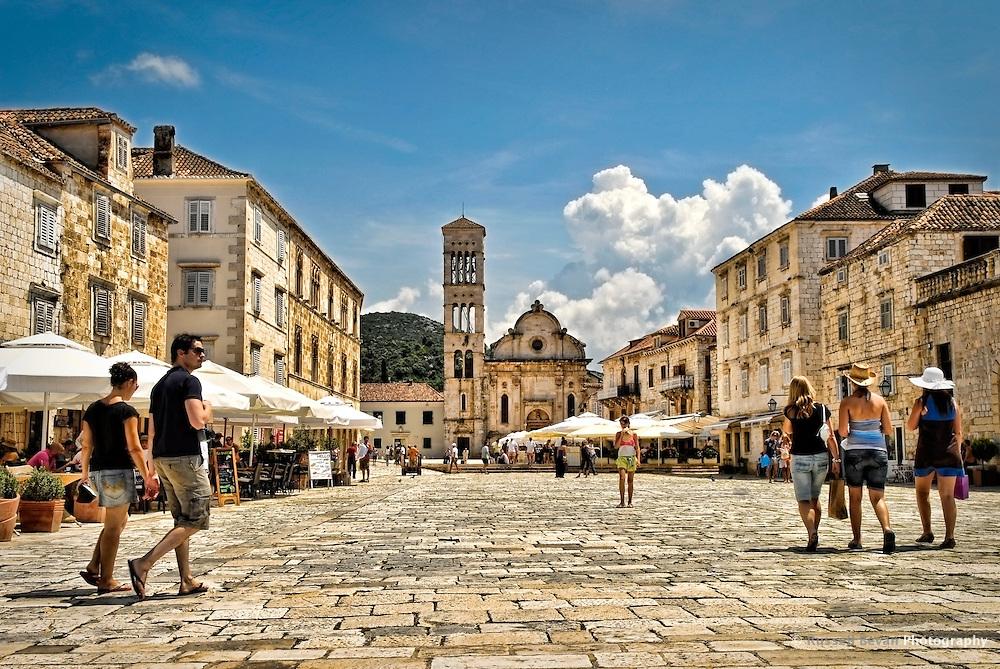 The main Square in Hvar, Croatia