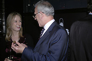 Liz Sowden and Simon Chase ( wearing the shirt) , Drinks party to launch a new Thomas Pink shirt called The Mogul which has a pocket which houses one's cigar. Hostyed by the Spectator and Thomas Pink. Floridita. Wardour St. London. 1 November 2006. -DO NOT ARCHIVE-© Copyright Photograph by Dafydd Jones 66 Stockwell Park Rd. London SW9 0DA Tel 020 7733 0108 www.dafjones.com