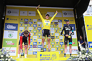 Edvard Boasson Hagen celebrates winning the Aviva Tour of Britain London Stage eight, Regent Street, London, United Kingdom on 13 September 2015. Photo by Phil Duncan.