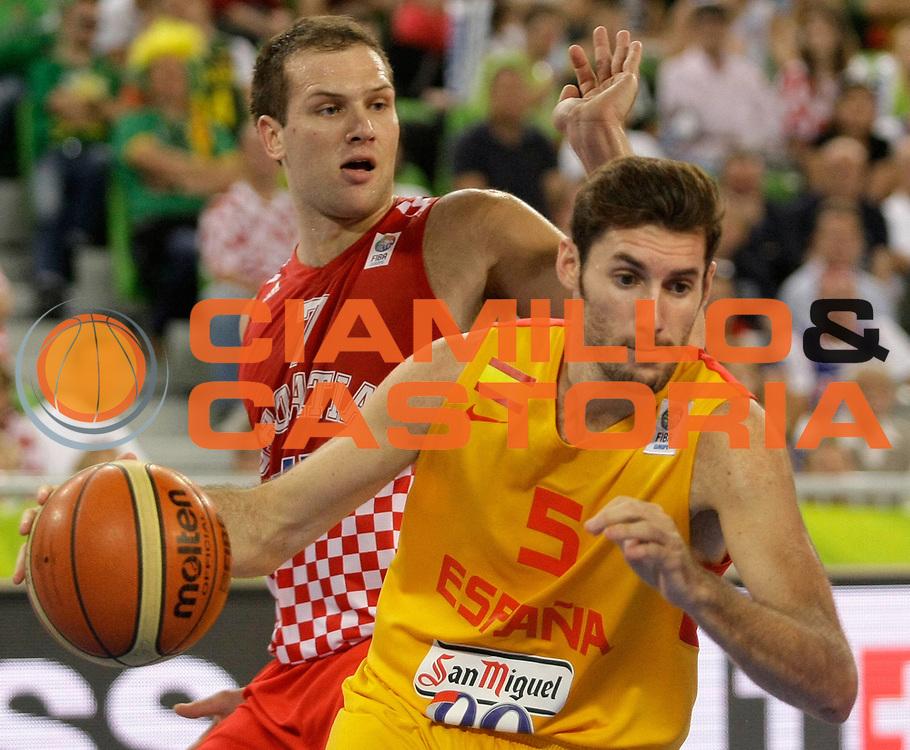 DESCRIZIONE : Lubiana Ljubliana Slovenia Eurobasket Men 2013 Finale Terzo Quarto Posto Spagna Croazia Final for 3rd to 4th place Spain Croatia<br /> GIOCATORE : Rudy Fernandez<br /> CATEGORIA : palleggio dribble<br /> SQUADRA : Spagna Spain<br /> EVENTO : Eurobasket Men 2013<br /> GARA : Spagna Croazia Spain Croatia<br /> DATA : 22/09/2013 <br /> SPORT : Pallacanestro <br /> AUTORE : Agenzia Ciamillo-Castoria/A.Cukic<br /> Galleria : Eurobasket Men 2013<br /> Fotonotizia : Lubiana Ljubliana Slovenia Eurobasket Men 2013 Finale Terzo Quarto Posto Spagna Croazia Final for 3rd to 4th place Spain Croatia<br /> Predefinita :