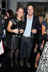 LOTTIE FRY and JAMIE MURRAY WELLS at a reception hosted by Beulah London and the United Nations to launch Beulah London's AW'11 Collection 'Clothed in Love' and the Beulah Blue Heart Campaign held at Dorsia, 3 Cromwell Road, London SW7 on 18th October 2011.