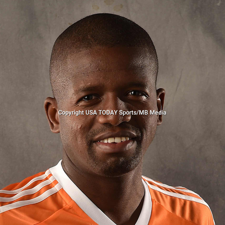 Feb 25, 2016; USA; Houston Dynamo player Boniek Garcia poses for a photo. Mandatory Credit: USA TODAY Sports