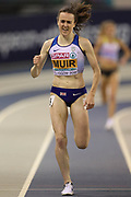 Laura Muir (Great Britain) winning the Women's 3000m during the European Athletics Indoor Championships 2019 at Emirates Arena, Glasgow, United Kingdom on 1 March 2019.