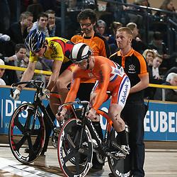 Roy van den Berg en Hugo Haak finale NK sprint
